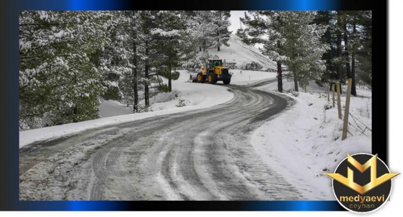 Adana'da karla mücadele aralıksız sürüyor