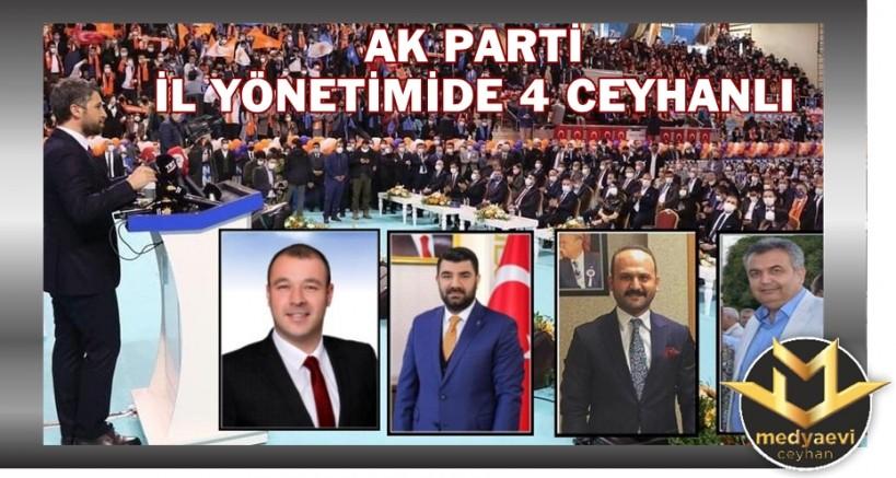 AK Parti İl Yönetiminde 4 Ceyhanlı