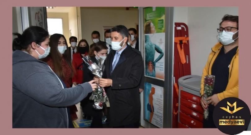 Başkan Mehmet Ay ilçeleri ziyaret etti