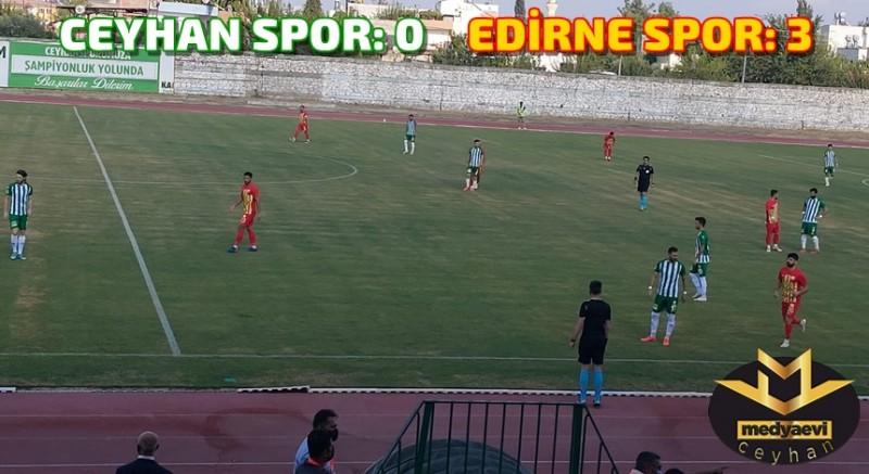 Ceyhan Spor Kendi Evinde Mağlup: 0-3